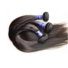 billige Remy fletninger af menneskehår-Peruviansk hår Klassisk Remy Menneskehår Menneskehår, Bølget Menneskehår Vævninger Menneskehår Extensions