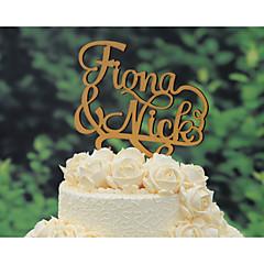billige Kakedekorasjoner-Kakepynt Klassisk Tema rustikk Theme Vintage Theme Klassisk Par Bryllup jubileum med 1pcs Polyester Veske