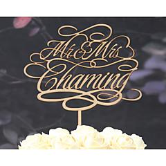 preiswerte Tortenfiguren & Dekoration-Tortenfiguren & Dekoration Klassisch rustikales Theme Weinlese-Thema Klassisches Paar Hochzeit Mit Poly Tasche