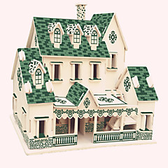 cheap -Wooden Puzzles Famous buildings Chinese Architecture House Professional Level Wood Christmas Carnival Birthday