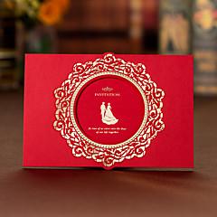 Embrulhado e de Bolso Convites de casamento 50-Cartões de convite Convites para Festas de Noivado Estilo Artístico Papel Cartão