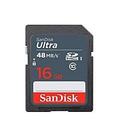 tanie Karty pamięci-SanDisk 16GB SD karta pamięci UHS-I U1 / Class10 Ultra