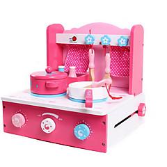 billiga Leksakskök och -mat-Toy köksutrustning Låtsaslek Simulering Originella Trä Pojkar Barn Present 1pcs