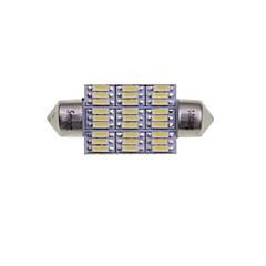 billige Interiørlamper til bil-SENCART 2pcs 41mm / 39mm Bil Elpærer 4W SMD 3014 380-450lm 27 interiør Lights
