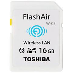baratos Cartões de Memória-Toshiba 16GB Cartão SD Wifi cartão de memória class10 Flash air
