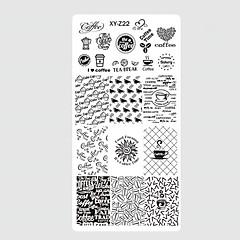 10pcs / set ny søt fargerik image design spiker rustfritt stål stempling plate diy mote stempling sjablonger manikyr verktøy spiker