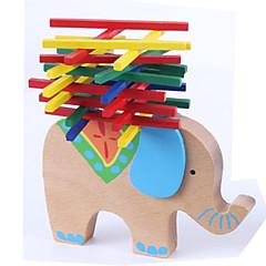 billige Brettspill-Byggeleker Byggetårn Elefant Originale Balanse 1 pcs Barne Gutt Jente Leketøy Gave