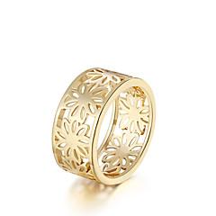 טבעות Round Shape יומי קזו'אל תכשיטים ציפוי זהב טבעת 1pc,7 8 מוזהב