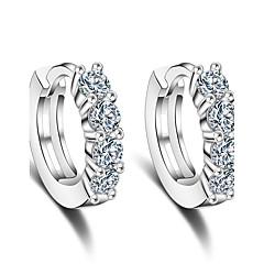Store Øreringer Kubisk Zirkonium Sølv Sølv Smykker Til Bryllup Fest Daglig Avslappet 1 par