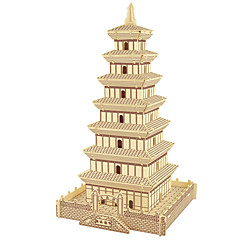 Jigsaw Puzzles Wooden Puzzles Building Blocks DIY Toys Big Wild Goose Pagoda 1 Wood Ivory Model & Building Toy
