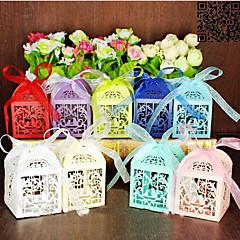 100 Piece / Set Bedankjeshouder-Piramide Parel Papier Bedank Doosjes Geschenkdoosjes Niet-gepersonaliseerde