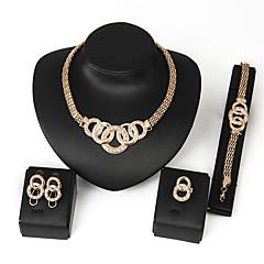 baratos Conjuntos de Bijuteria-Mulheres Diamante sintético Conjunto de jóias - Zircão Básico, Religioso, Punk Incluir Dourado Para Casamento / Festa