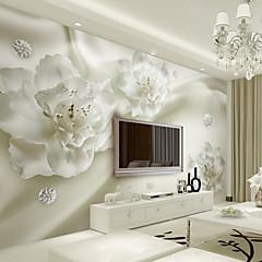 billige Vegglamper-Art Deco 3D Tapet til Hjemmet Moderne Tapetsering , Lerret Materiale selvklebende nødvendig Veggmaleri , Tapet