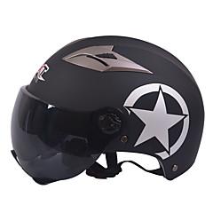 짧은 차 미러 렌즈 55-61cm에 적합한 GXT M11 오토바이 반 헬멧 듀얼 렌즈 할리 선 스크린 헬멧 여름 남여