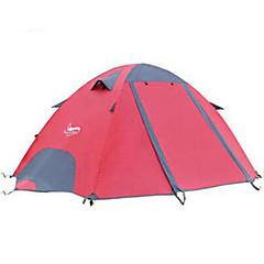 billige Telt og ly-DesertFox® 2 personer Turtelt Utendørs Regn-sikker, Fort Tørring Dobbelt Lagdelt Stang Kuppel camping Tent 2000-3000 mm til Camping polyester, Oxford