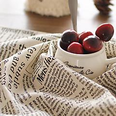 billiga Kök och matlagning-engelska retro-tryckta tidningar mönster placemats 50x70cm bomull linne servett