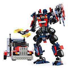 GUDI רובוט אבני בניין מכוניות צעצוע צעצועים צעצועים לוחם מכונה רובוט טרנספורמבל בנים בנות נערים 377 חתיכות