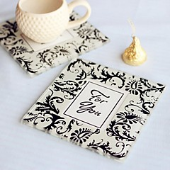 Damask Photo Coaster Favor 2pcs/box Beter Gifts® Debutante Ball Party Souvenirs