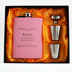 cheap Wedding Gifts-Personalized Stainless Steel Barware & Flasks Hip Flasks Bride Groom Bridesmaid Groomsman Flower Girl Ring Bearer Couple Parents Baby &