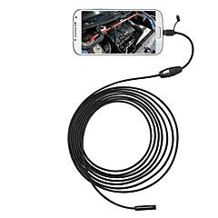 3 in 1 6 LEDs 5.5mm 5m android Endoskop otg Mikro-USB-Inspektionskamera ip66