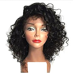 cheap Wigs & Hair Pieces-100% Virgin Human Hair Full Lace Wig Brazilian Hair Curly Wig Bob 120% 130% Density with Baby Hair Natural Hairline African American Wig Women's Short Human Hair Lace Wig Premierwigs