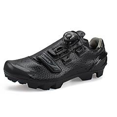 billige Sykkelsko-SANTIC Mountain Bike-sko Karbonfiber Anti-Skli, Pustende, Slitasje-sikker Sykling Svart Herre / Støpt Mikrolås Spenne og Stropp Justerer