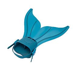 Tauchen Flossen Schwimmflossen Schnorchel Sets Einstellbare Passform Schnellspanner Meerjungfrau Schwimmen Tauchen und Schnorcheln TPR