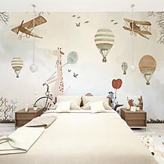 cheap -Cartoon Airplane Custom 3D Large Wall Covering Mural Wallpaper Fit Restaurant Bedroom Office Children