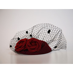 Katoenflanel Net Fascinators Net Sluier Helm