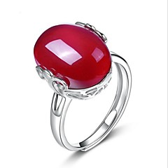 billige Motering-Dame Krystall Ring - Sølv, Krystall, Agat Dråpe Unikt design En størrelse Rød Til Bryllup Fest Spesiell Leilighet
