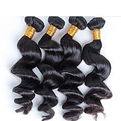 billige Remy fletninger af menneskehår-4 stk / lot gratis forsendelse uforarbejdede jomfru dronning brazilian menneskehår, brazilian løs bølge virgin hår