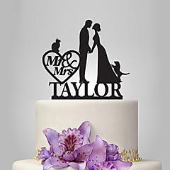 Kakepynt Personalisert Klassisk Par Akryl Bryllup Jubileum Utdrikkingslag Hage Tema Klassisk Tema Eventyr Tema Rustikk Tema OPP