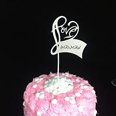 Kakepynt Ikke-personalisert Hjerter Kort Papir Bryllup Jubileum Utdrikkingslag Baby Fest 15- og 16-års bursdag BursdagHjerte Design