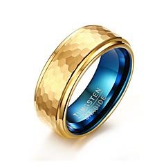 טבעת עיצוב בייסיק אופנתי מותאם אישית Euramerican סגנון מינימליסטי ציפוי זהב פלדה טונגסטן Circle Shape Round Shape Geometric Shape תכשיטים