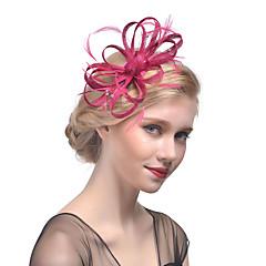 hesapli -Tül Yapay Elmas Tüy Net Çiçek  -  Headbands Fascinators Başlık 1pc Düğün Özel Anlar Başlık