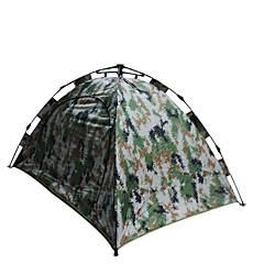 """2 אנשים אוהל כפול קמפינג אוהל חדר אחד אוהל אוטומטי עמיד לאבק ל צעידה קמפינג 1500-2000 מ""""מ סיבי זכוכית אוקספורד CM"""