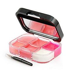 1Pcs Lips Makeup Brand Girl Woman 6 Colors Make Up Lip Gloss Lipstick Cream Palette Set Beauty