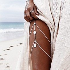 cheap Body Jewelry-Women's Body Jewelry Leg Chain Handmade Bohemian Alloy Number Silver Gold Jewelry For Casual Sports 1 pc