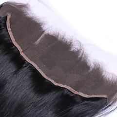 billiga Peruker och hårförlängning-Brasilianskt hår 4x13 Stängning Rak / Klassisk Fria delen / Mittparti / 3 Del Schweizisk spetsperuk Äkta hår Dagligen