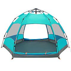billige Telt og ly-TANXIANZHE® 5-8 personer Telt Dobbelt camping Tent Ett Rom Automatisk Telt Fukt-sikker Vanntett Regn-sikker Pusteevne til Vandring