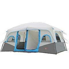 CAMEL > 8人 テント ダブル キャンプテント 2つのルーム 家族用テント 保温 防水 携帯用 防雨 高通気性 のために キャンピング&ハイキング 釣り 登山 旅行 2000-3000 mm 425*305*203 cm