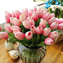 abordables Fleurs Artificielles-Fleurs artificielles 10 Une succursale Style moderne Tulipes Fleur de Table