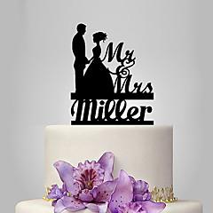 billige Kakedekorasjoner-Kakepynt Personalisert Klassisk Par Akryl Bryllup Jubileum Utdrikkingslag Klassisk Tema Eventyr Tema OPP