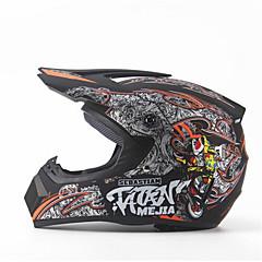 halpa Kypärät ja maskit-mejia off-road moottoripyörät kilpa kypärä kiiltävä musta täysi kasvot vaimennus kestävä motorsport kypärä