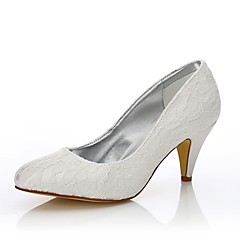 Damen-Hochzeit Schuhe-Hochzeit Outddor Büro Kleid Party & Festivität-Seide Tüll-Konischer Absatz-Komfort Club-Schuhe einfärbbar Schuhe-