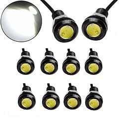 baratos -Ziqiao 10pcs / lot 9w levou 18 milímetros dc12v águia olho luz carro nevoeiro drl dia reverso estacionamento estacionário luz lâmpada