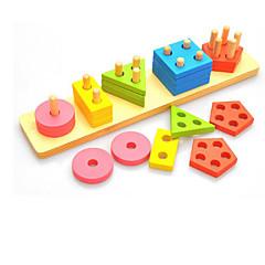 Bausteine Bildungsspielsachen Spielzeuge Quadratisch Kreisförmig Dreieck Stücke Kinder Geschenk
