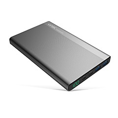 billige Eksterne batterier-20000mAh strømbank eksternt batteri 5V 2.4A 3.0AA Batterilader Flere utganger LCD