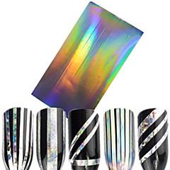 billige Negleklistremerker-1pcs Glitter & Poudre 3D Nail Stickers Folie Stripping Tape Mote Daglig Høy kvalitet