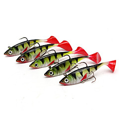 "5 pcs Fishing Lures Shad Multicolored g/Ounce,85 mm/3-5/16"" inch,Silicon Bait Casting Lure Fishing"